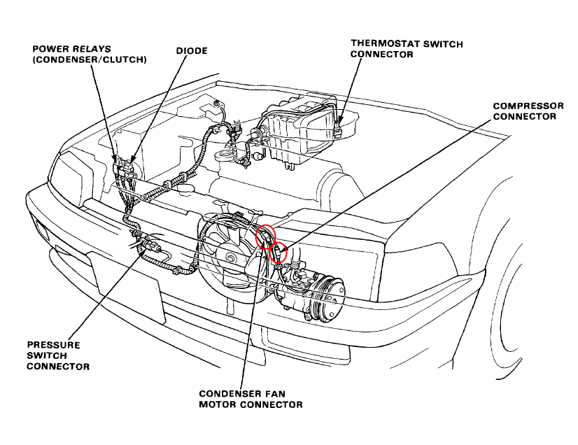 91 honda crx si engine harness diagram